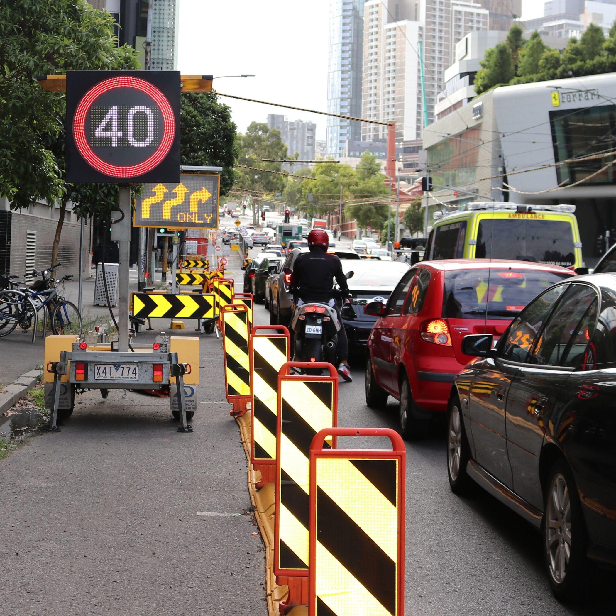 RPM Hire Klemmfix barrier traffic management