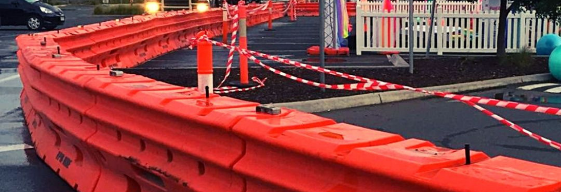 water filled barriers for events
