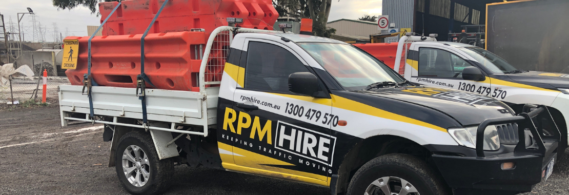 RPM Hire Utes - water filled barriers for events