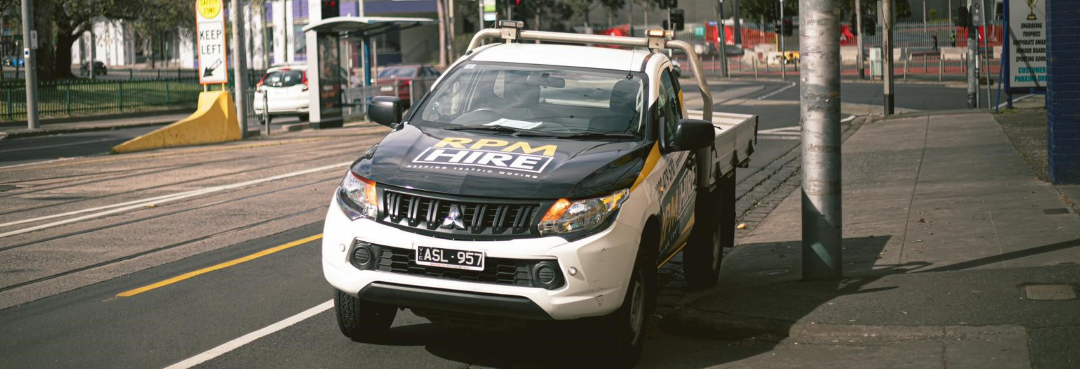RPM Hire delivery vehicle