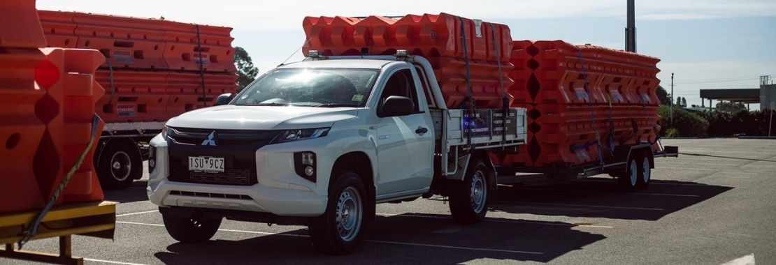 Transportation of water filled barriers